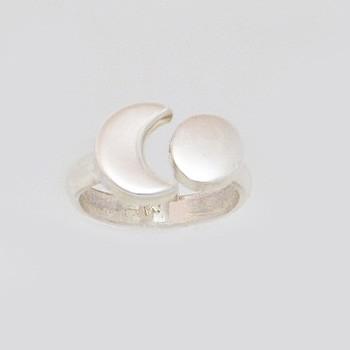Nap-hold ezüst gyűrű