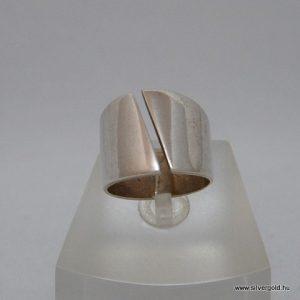 Unisex átlós ezüst gyűrű