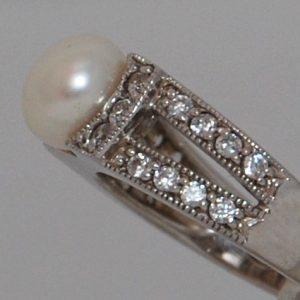 Gyöngyös nagy ezüst gyűrű