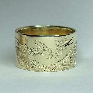 Sárkányos arany karikagyűrű