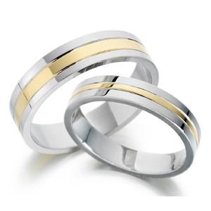 Karikagyűrű-fehér,sárga,fehér