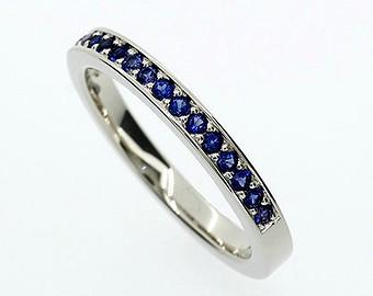 Zafíros fehérarany gyűrű