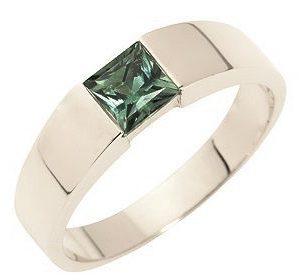 Zafíros fehérarany karikagyűrű